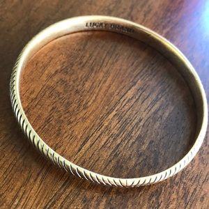 Lucky Brand feather bangle bracelet